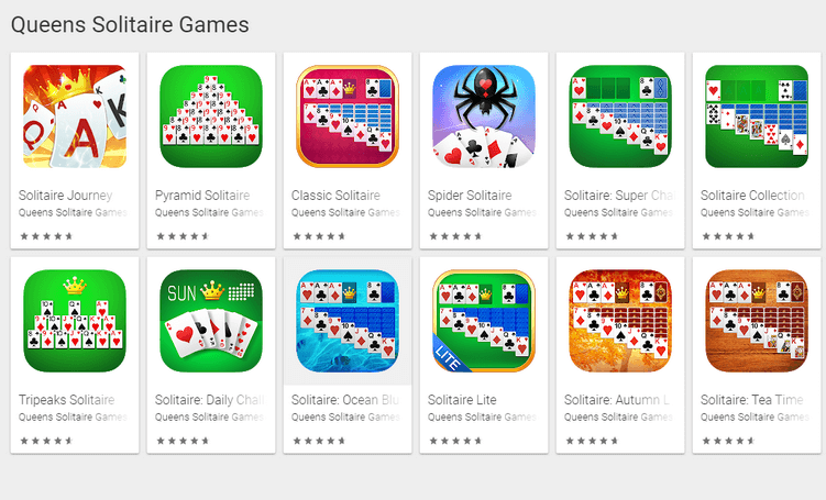 Queen Games Solitaire