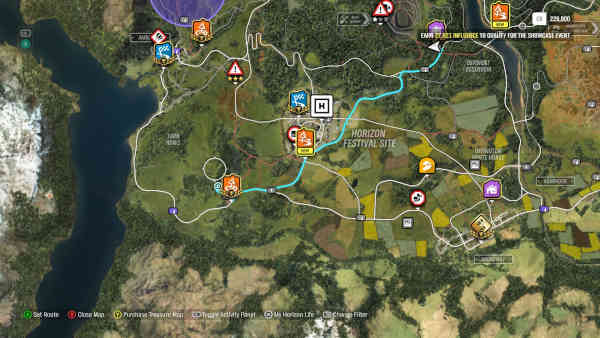 Forza Horizon 4 Burn Finds: All Cars Locations Map Lego Winter or Spring