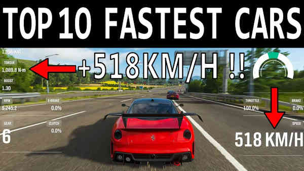 Forza Horizon 4 Fastest Car: Top Speed Traps list Xbox One with Pictures